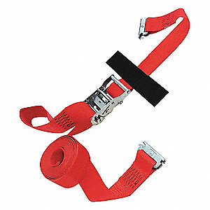 Tie Down Strap, 20 ftL x 2 inW, 1,467 lb Load Limit, Adjustment: Ratchet