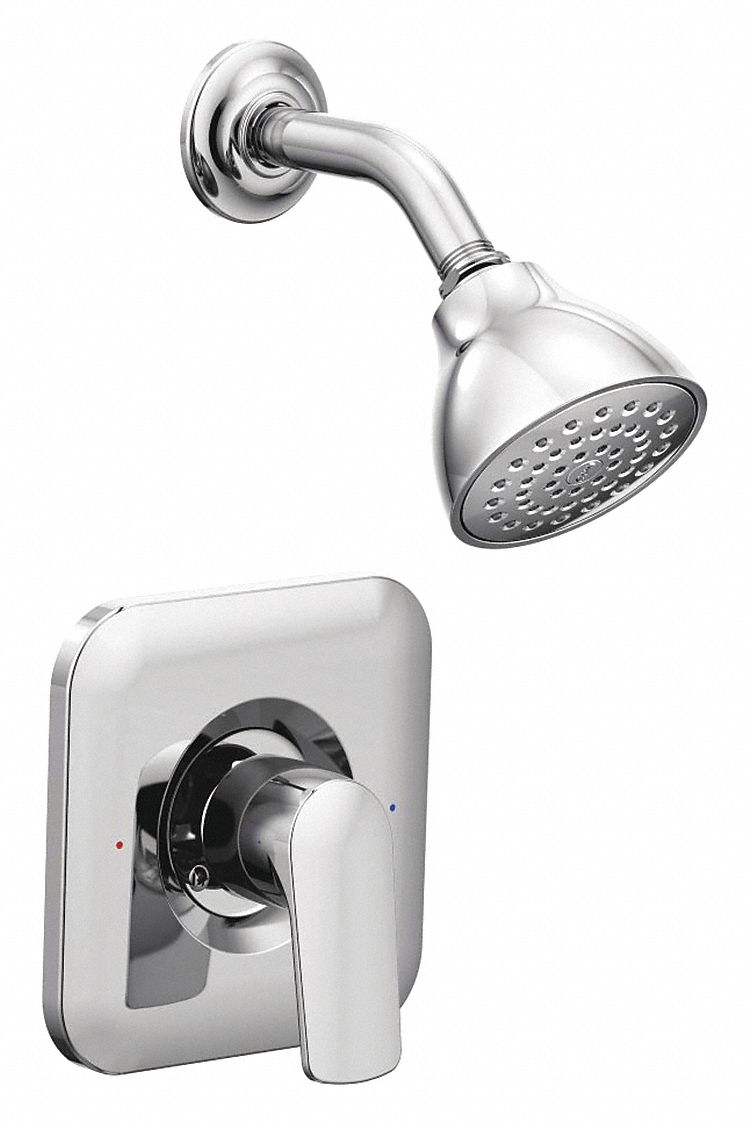 Moen,  Wall Mounted,  Tub and Shower Trim Kit,  2.5 gpm,  Chrome