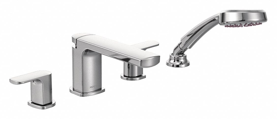 Moen,  Bathtub Faucet and Trim,  Push Down Diverter Spout,  Chrome