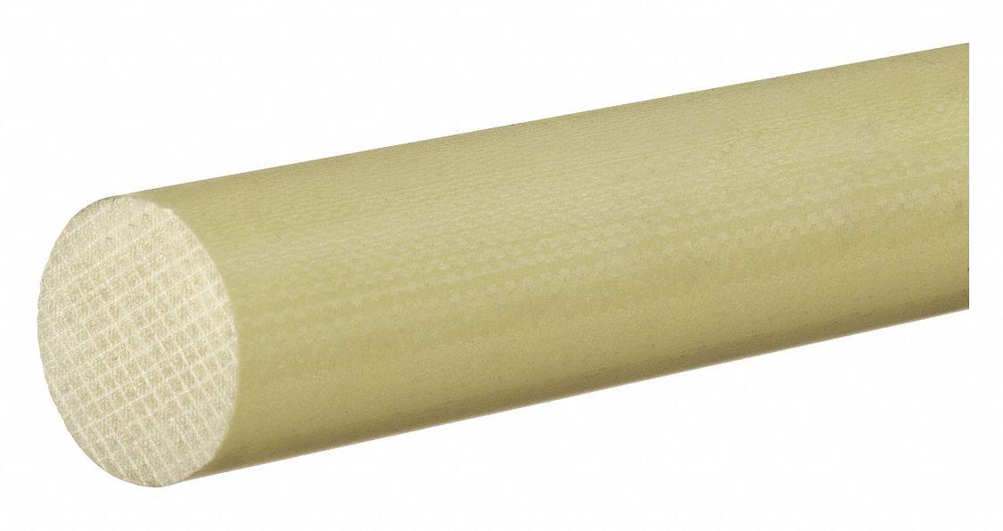 DELRIN 2XMH5 Rod,Acetal,150,Wht,1 1//2 In Dia x 1 Ft L