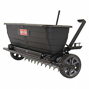 Drop Spreader, 175 lb. Capacity, Knobby Wheel Type, Regulated Drop Drop Type, Fixed T Handle