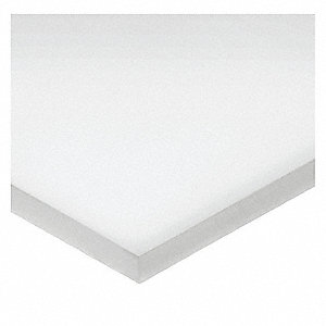 "Sheet Stock, EPTFE, 15""L x 15""W x  0.125"" Thick, 500 Max. Temp. (F), White"