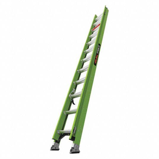 Little Giant 24 Ft Fiberglass Extension Ladder 300 Lb Load Capacity 42 0 Lb Net Weight 498y95 18724 Grainger