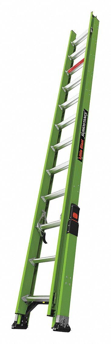 Little Giant 24 Ft Fiberglass Extension Ladder 300 Lb Load Capacity 52 0 Lb Net Weight 498z03 18824 Grainger