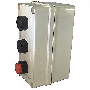 Push Button Control Station, 2NO/3NC Contact Form, Number of Operators: 3