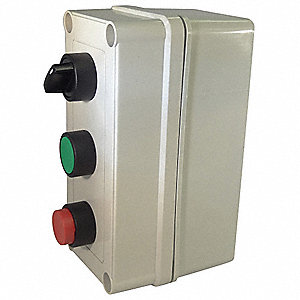 Selector Switch Control Station, 3NO/1NC Contact Form, Number of Operators: 3
