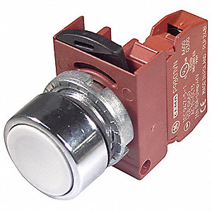 Non-Illuminated Push Button, Type of Operator: Flush Button, Size: 22mm, Action: Momentary Push