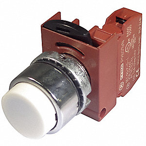 Non-Illuminated Push Button, Type of Operator: Extended Button, Size: 22mm, Action: Momentary Push