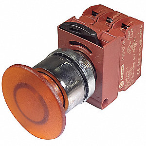 Illuminated Push Button Operator, Orange, Momentary Action, 24VAC/DC Lamp Voltage