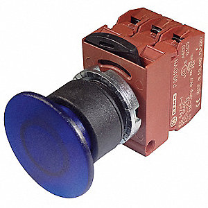 Illuminated Push Button Operator, Red, Maintained Push / Pull Action, 24VAC/DC Lamp Voltage