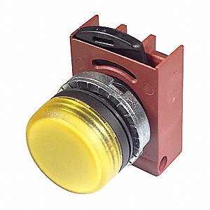 Pilot Light Head, 22mm, Lamp Type: Refracted LED, Terminal Connection: Screw Terminal