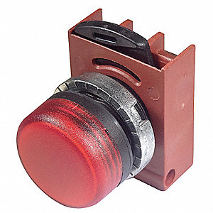Pilot Light Head,Red,Refracted LED
