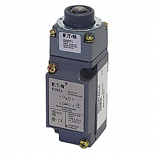 Plunger Heavy Duty Limit Switch&#x3b; Location: Top, Contact Form: 1NC/1NO, Linear Movement