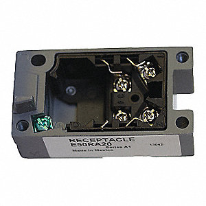 Limit Switch Receptacle,Surface Mount, Zinc Die Cast, 1NO/1NC Contact Form, 20mm Conduit Size