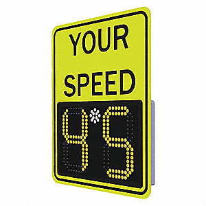 Your Speed/Digital Display LED Radar Speed Display Sign, Amber LED Color, Power Requirements: 240V
