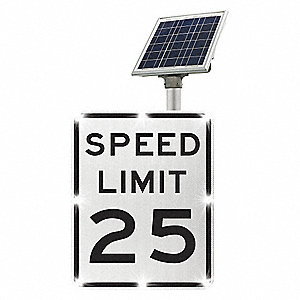 LED Traffic Sign,Solar,Speed Limit 25