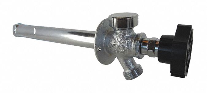 14 inL Brass Ball Valve Frost Proof Sillcock, ABS Handle, MNPT or FNPT