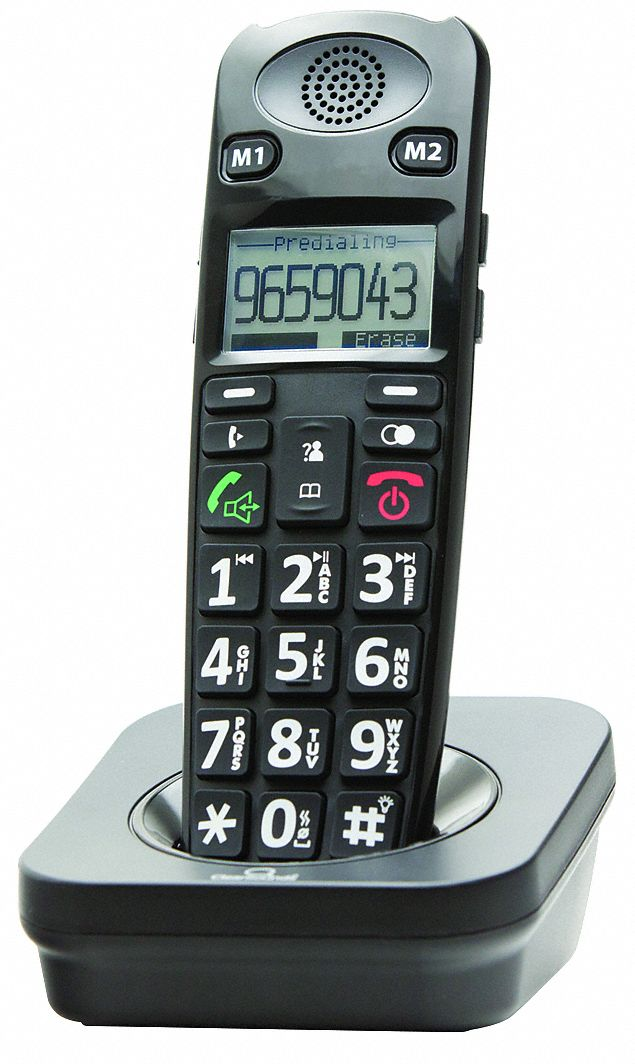 Cordless Phone Extension Handset,  Black,  Voicemail Yes