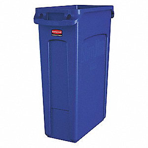 Utility Container,23 gal,Plastic,Blue