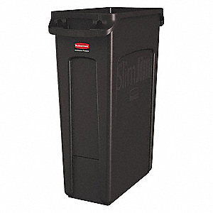 23 gal. Rectangular Brown Trash Can