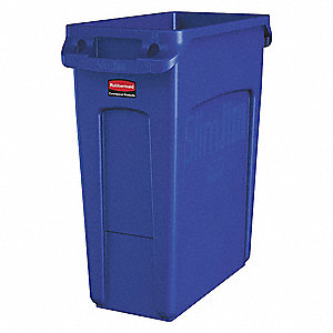 Utility Container,16 gal,Plastic,Blue