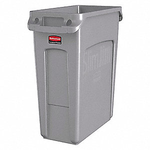 Utility Container,16 gal,Plastic,Gray