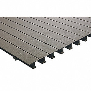 Light Gray Pedestrian Pultruded Grating, ISOFR Resin Type, 8 ft. Span, Grit-Top Surface