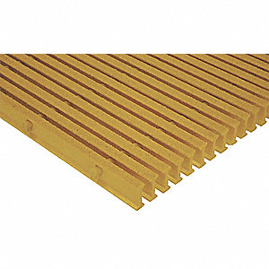 Yellow Industrial Pultruded Grating, ISOFR Resin Type, 12 ft. Span, Grit-Top Surface