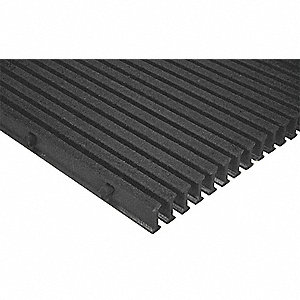Dark Gray Industrial Pultruded Grating, Vi-Corr Resin Type, 12 ft. Span, Grit-Top Surface