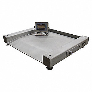 2500 lb. Digital LCD Floor Scale with Remote Indicator