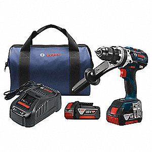 "1/2"" Cordless Hammer Drill, 18.0 Voltage, Battery Included"