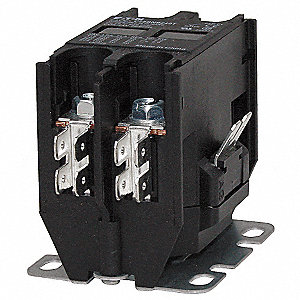 24VAC Definite Purpose Contactor&#x3b; No. of Poles 2, Reversing: No, 20 Full Load Amps-Inductive