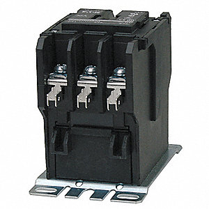 208/240VAC Definite Purpose Contactor&#x3b; No. of Poles 3, Reversing: No, 30 Full Load Amps-Inductive
