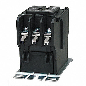 24VAC Definite Purpose Contactor&#x3b; No. of Poles 3, Reversing: No, 40 Full Load Amps-Inductive