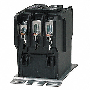 24VAC Definite Purpose Contactor; No. of Poles 3, Reversing: No, 75 Full Load Amps-Inductive