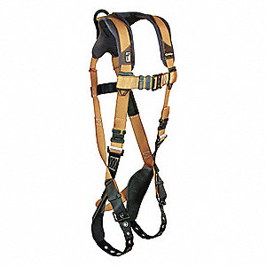 ComforTech Gel Full Body Harness with 425 lb. Weight Capacity, Gold/Brown, L