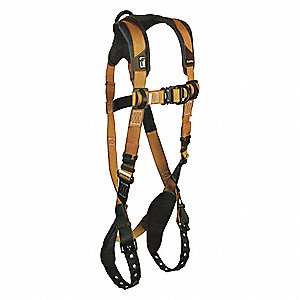 ComforTech Gel Full Body Harness with 425 lb. Weight Capacity, Gold/Brown, S