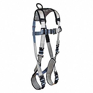 FlowTech LTE Full Body Harness with 425 lb. Weight Capacity, Gray/Blue, S