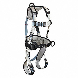 FlowTech LTE Full Body Harness with 425 lb. Weight Capacity, Gray/Blue, XL