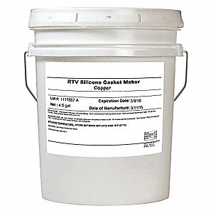 Silicone Copper Gasket Sealant, 4.5 gal.