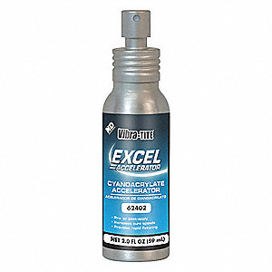Accelerator,2 oz. Can,Isopropanol-Based