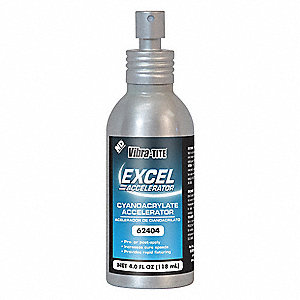 Accelerator,4 oz. Can,Isopropanol-Based