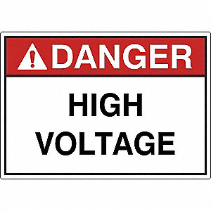 Label,3-1/2 in H,Danger High Voltage,PK5
