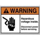 Warning: Hazardous Voltage Inside. Disconnect Power Before Servicing. Signs