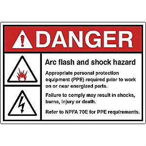 Label,Electrical Hazard,3-1/2 in. H,PK5