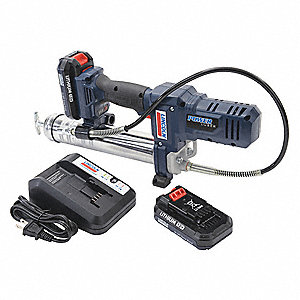12.0 Volt Cordless Grease Gun, 8000 psi, 2.6 Strokes per oz., Cartridge, Bulk, Filler Pump Loading,