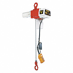 H2 Electric Chain Hoist, 500 lb. Load Capacity, 120V, 20 ft. Hoist Lift, 16/44 fpm