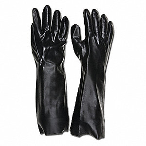 Gloves,PVC,L,18 in. L,Interlock,PR,PK12