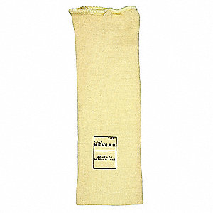 "Kevlar® Sleeve, 10""L, Knitted Cuff, Yellow"