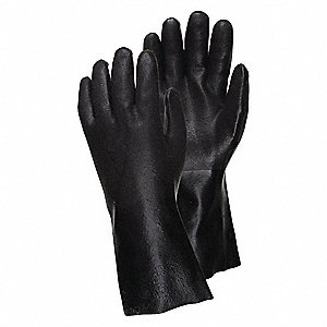 Gloves,PVC,L,12 in. L,Gauntlet,PR,PK12